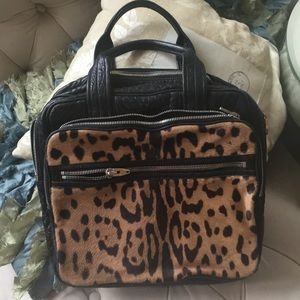 Leather and Leopard Alexander Wang Satchel
